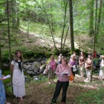 Savos kurybos eilės prie senojo ąžuolo